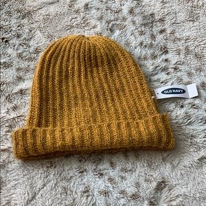NWT Old Navy Mustard Knit Beanie Hat